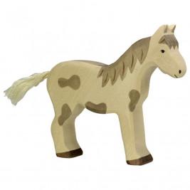 Horse standing spotted Holztiger