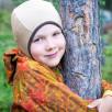 Manymonths Almond - Chocolate Hooded baby pure merino wool