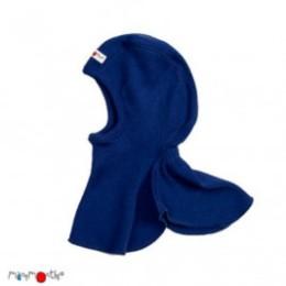 Manymonths Jewel Blue - Cagoule bébé pure laine mérinos