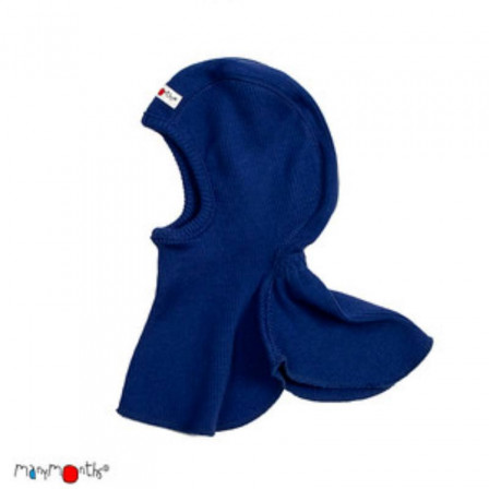 Manymonths Jewel Blue - Hooded baby pure merino wool