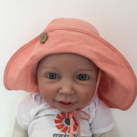 Manymonths chapeau chanvre ajustable Light Charmer/ Explorer 3-12/18 mois