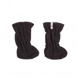 Manymonths Chaussons de portage d'hiver en laine Merinos Noir / Silver Cloud