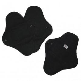 MAM Ecofit Regular Serviette Hygiénique Lavable Noir Flux Normal