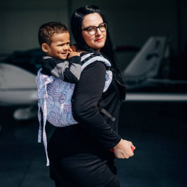 LennyLamb Obuhimo Toddler Back Carrier AROUND THE WORLD