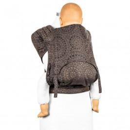 Fidella Fly Tai Mosaic brun mocha - porte-bébé meï-taï (taille bambin)