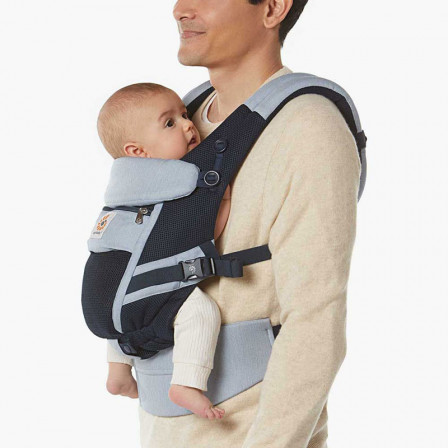 Ergobaby Adapt Cool Air Mesh Bleu Chambray - Porte-bébé Évolutif