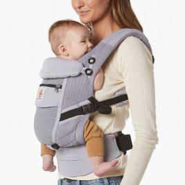 Ergobaby Adapt Cool Air Mesh Gris Lilas - Porte-bébé Évolutif