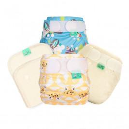 Totsbots Pack d'essai couches lavables pour les nouveaux-nés - Tiny Baby Trial Kit