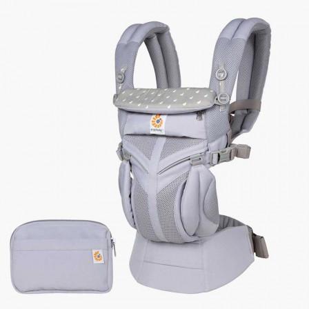 Ergobaby Omni 360 Cool Air Mesh Dewy Taupe - Porte-bébé Évolutif 4 Positions