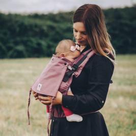 Limas Flex Blush porte bébé physiologique en coton biologique