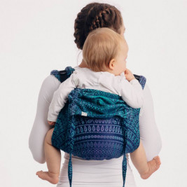 LennyLamb Obuhimo Toddler Back Carrier Peacock's Tail Provance