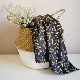 Limas Flora Midnight Blue -woven wrap organic cotton 460 cm