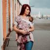 Fidella Flyclick Persian Paisley Rubis Taille bébé - Porte-bébé Halfbuckle