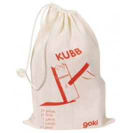 Goki Jeu de vikings Mini-Kubb - Jouet en bois