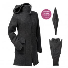 Mamalila babywearing - Hooded coat anthracite
