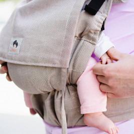 Limas Flex Beige porte bébé physiologique en coton bio