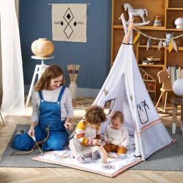 Kinderkraft Tippy tapis éducatif avec tente tipi 3 en 1