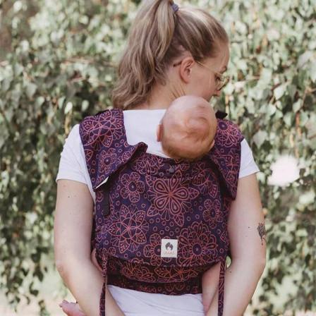 Limas FlexMandala Cinnamon porte bébé physiologique en coton bio