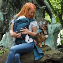 Storchenwiege Wrap Babycarrier Turquoise