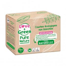 Pure Nature Couches certifiées Ecolabel et hypoallergéniques T4+ x 35