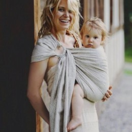 Little Frog Ring Sling - Almond Wildness