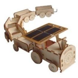 Maquette en bois  train solaire Héliobil