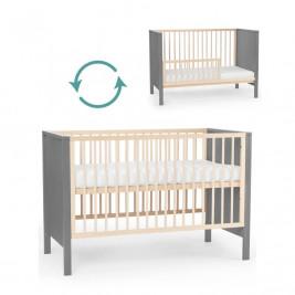 KinderKraft Mia - Lit bébé en bois évolutif