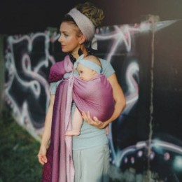 Little Frog Baby ring sling Peony Cube