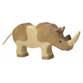 Rhinocéros en bois Holztiger