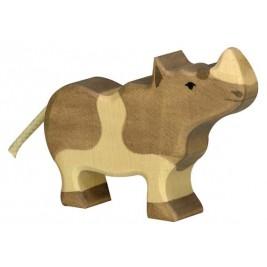 Petit rhinocéros en bois Holztiger