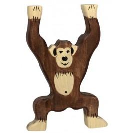 Chimpanzé debout en bois Holztiger