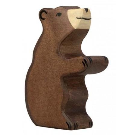 Ourson brun en bois Holztiger