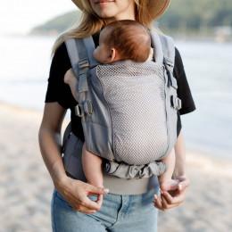 Love and Carry ONE + Cool Grey - Porte-bébé physiologique - Portage ventral tablier toutes saisons ouvert