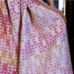 Yaro Slings Petals Ultra Caramel Rainbow Linen - Ring Sling