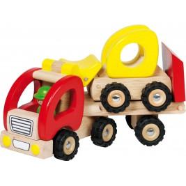 Camion-poubelle en bois par Goki
