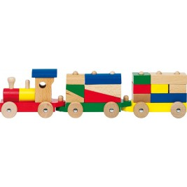 Train rom, and pieces of wood to Rom by Goki