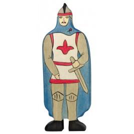 Chevalier avec manteau bleu Holztiger