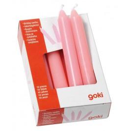 set de 10 bougies roses anniversaire Goki