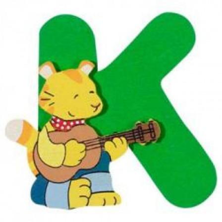 Lettre K en bois goki