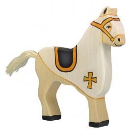 Cheval de course blanc Holztiger