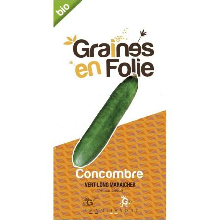 Concombre vert long maraicher graines en folie