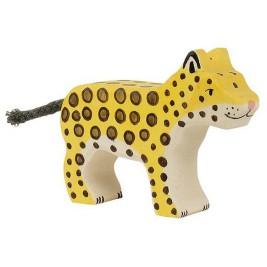Petit léopard en bois Holztiger