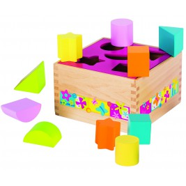 Box of wooden shapes Susibelle