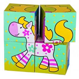 Puzzle de cubes, les amis de Susibelle Chlara le cheval