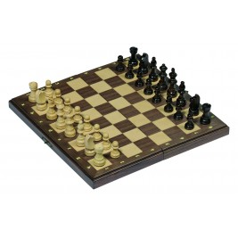Chess set magnetic in a wooden box foldable Goki