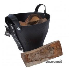 cabas de 40 cm avec buches de bois de 33 cm