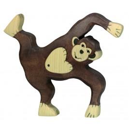 Chimpanzé jouant en bois Holztiger