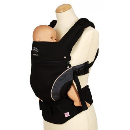 Porte-bébé Manduca noir newstyle position ergonomique