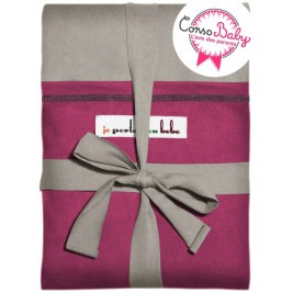 The original JPMBB Baby Wrap Light Grey, pocket Fuchsia