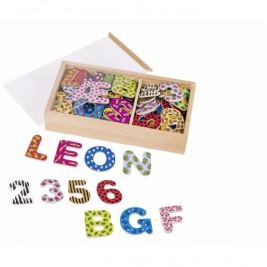 Aimant alphabet et chiffres – 88 éléments GOKI